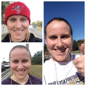 Running selfies the last week of C25K